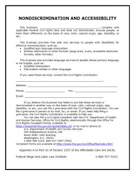 ACA Nondiscrimination-English-Laminated