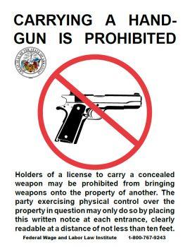 Arkansas Spec No Firearms