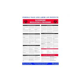 Bloodborne Pathogen-English-Laminated