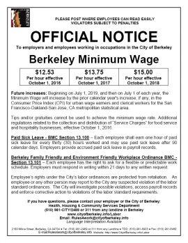 California Spec Berkeley Min Wage