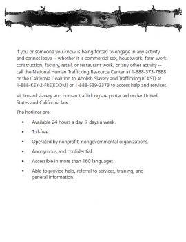 California Spec Human Trafficking