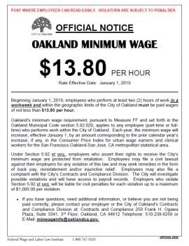 California Spec Oakland Min Wage