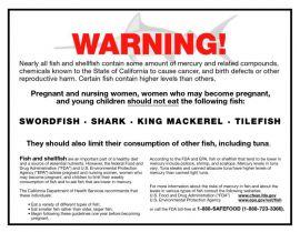 California Spec Prop 65 Seafood