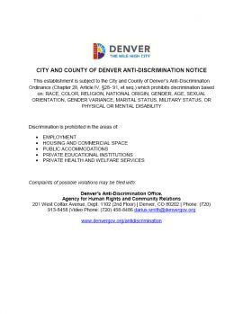 Colorado Spec Denver Discrimination