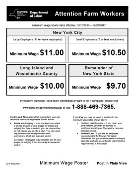 New York Spec Wage Order Spec Farm